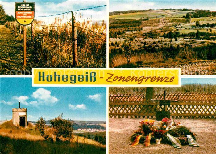 AK / Ansichtskarte Grenze Douane Zoll Hohegeiss Zonengrenze  Kat. Zoll