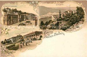 AK / Ansichtskarte Baden Baden Altes Schloss Conversationshaus Friedrichsbad Augustabad Kat. Baden Baden