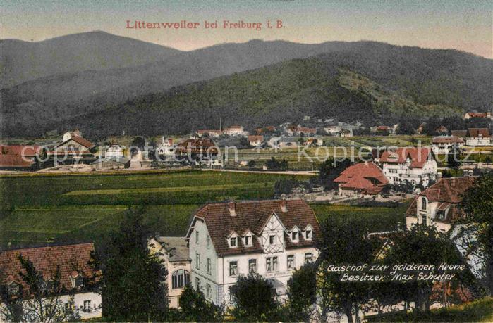 AK / Ansichtskarte Littenweiler Panorama Gasthof zur goldenen Krone Kat. Freiburg im Breisgau