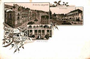 AK / Ansichtskarte Baden Baden Friedrichsbad Augustabad Conversationshaus Portal Trinkhalle Kat. Baden Baden