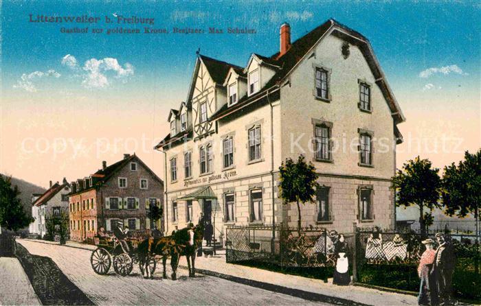 AK / Ansichtskarte Littenweiler Gasthof zur goldenen Krone Kat. Freiburg im Breisgau