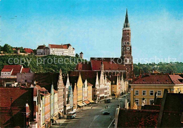 AK / Ansichtskarte Landshut Isar Altstadt St Martinskirche Burg Trausnitz Kat. Landshut