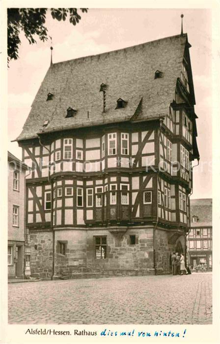 AK / Ansichtskarte Alsfeld Rathaus Historisches Gebaeude Fachwerkhaus Kat. Alsfeld
