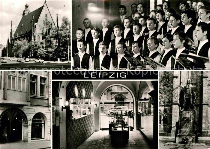AK / Ansichtskarte Leipzig Thomaskirche Thomanerchor Musik Bach Gedenkstaette Denkmal Kat. Leipzig