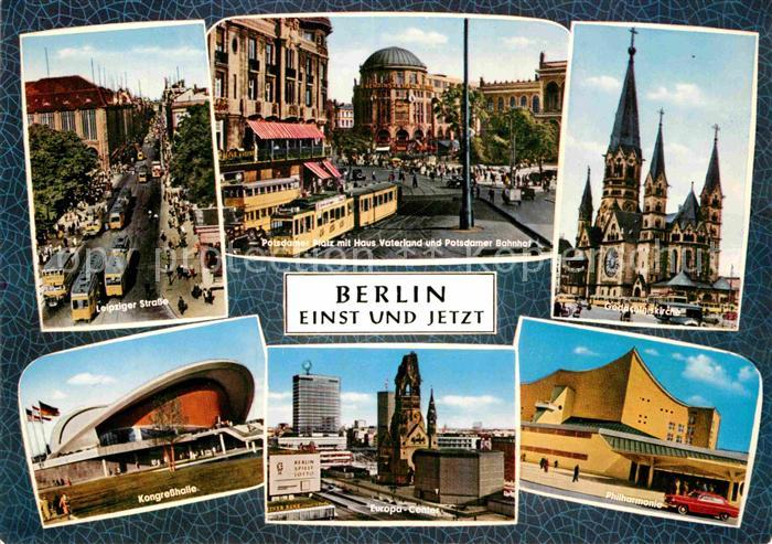AK / Ansichtskarte Berlin Einst und jetzt Kat. Berlin