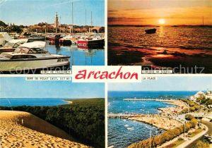 AK / Ansichtskarte Arcachon Gironde Port de Plaisance Coucher de Soleil Promenade Cote Kat. Arcachon