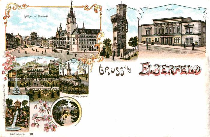 AK / Ansichtskarte Elberfeld Wuppertal Rathaus Neumarkt Casino Heydtturm  Kat. Wuppertal