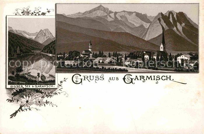 AK / Ansichtskarte Garmisch Partenkirchen Rissersee  Kat. Garmisch Partenkirchen
