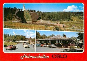 AK / Ansichtskarte Oslo Norwegen Holmenkollen Restaurant Skisprungschanze Kat. Oslo
