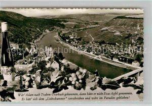 AK / Ansichtskarte Traben Trarbach Panorama mit Ruine Grevenburg Kat. Traben Trarbach