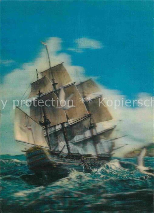 AK / Ansichtskarte Segelschiffe 3D Karte  Kat. Schiffe