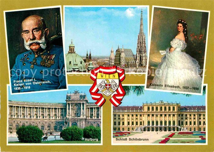 AK / Ansichtskarte Franz Josef I. Kaiser von oesterreich Kaiserin Elisabeth Wien Hofburg Schloss Schoenbrunn  Kat. Koenigshaeuser