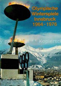 AK / Ansichtskarte Olympia Winterspiele Innsbruck Fackel  Kat. Sport