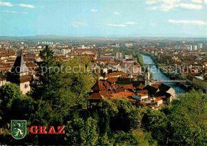 AK / Ansichtskarte Graz Steiermark Blick vom Schlossberg  Kat. Graz
