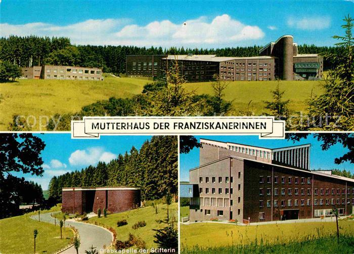 AK / Ansichtskarte Olpe Biggesee Mutterhaus der Franziskanerinnen Grabkapelle Kat. Olpe