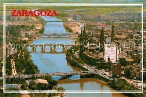 AK / Ansichtskarte Zaragoza Aragon Fliegeraufnahme Teilansicht  Kat. Zaragoza Saragossa
