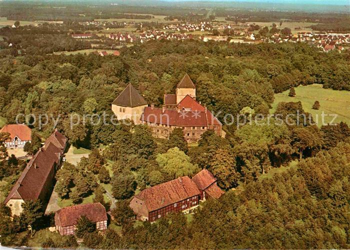 AK / Ansichtskarte Rheda Wiedenbrueck Fliegeraufnahme Schloss Rheda Kat. Rheda Wiedenbrueck