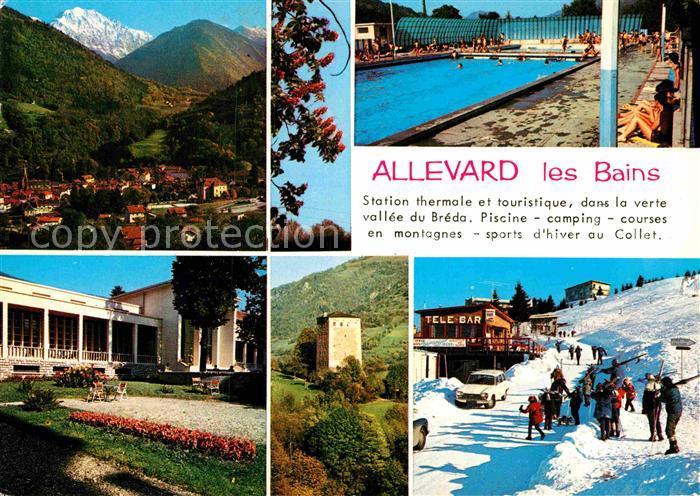 AK / Ansichtskarte Allevard les Bains Isere Freibad Skigebiet Kat. Allevard