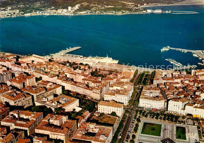 AK / Ansichtskarte Ajaccio Vue aerienne de la place De Gaulle La place Foch et le port Kat. Ajaccio