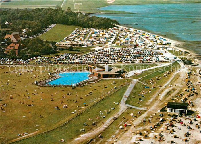 Dangast Karte.Ak Ansichtskarte Dangast Nordseebad Fliegeraufnahme Meerwasserquellbad Campingplatz