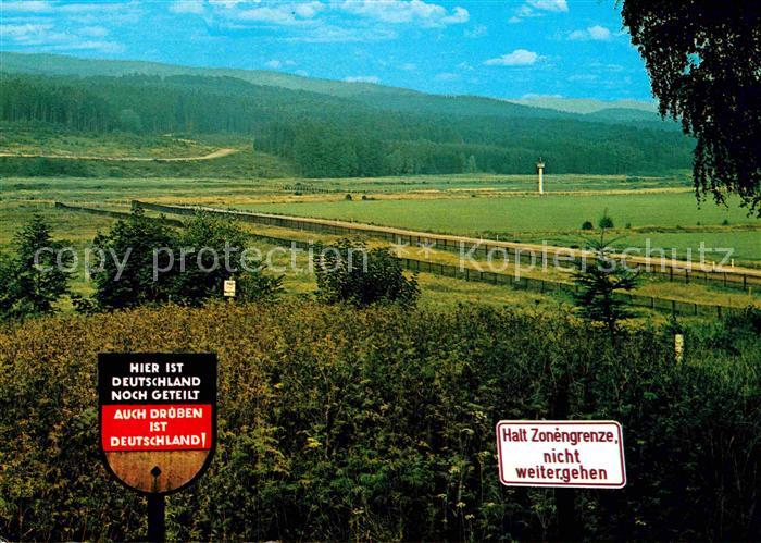 AK / Ansichtskarte Grenze Douane Zoll Zonengrenze Harz  Kat. Zoll