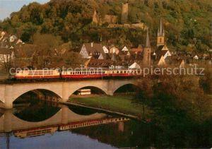 AK / Ansichtskarte Eisenbahn Elektro Schnellzuglokomotive 103179 B Gemuenden Main  Kat. Eisenbahn
