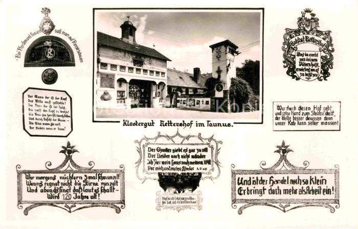 AK / Ansichtskarte Kelkheim Klostergut Rettershof  Kat. Kelkheim (Taunus)
