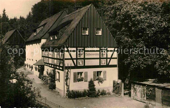 AK / Ansichtskarte Kleinhennersdorf Waldidyll Liethenm?hle  Kat. Gohrisch