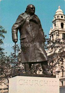 AK / Ansichtskarte London Sir Winston Churchill Statue Parliament Square Kat. City of London