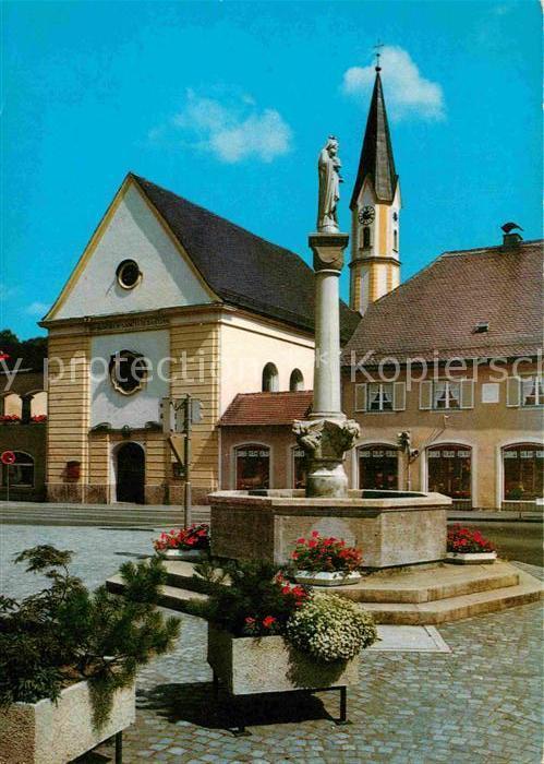 AK / Ansichtskarte Bad Aibling Marienbrunnen Marienplatz Brunnen Moorheilbad Kat. Bad Aibling