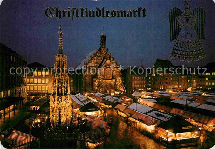 AK / Ansichtskarte Nuernberg Christkindlesmarkt bei Nacht Kat. Nuernberg