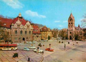 AK / Ansichtskarte Bergisch Gladbach Marktplatz Rathaus Kirche Kat. Bergisch Gladbach