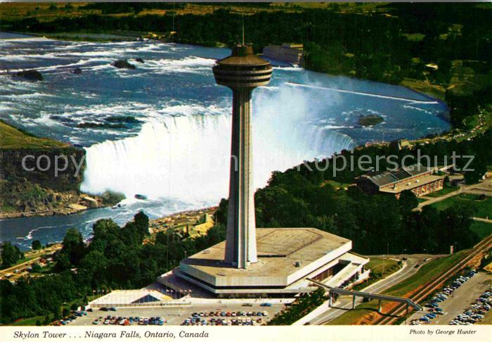 AK / Ansichtskarte Niagara Falls Ontario Skylon Tower aerial view Kat. Niagara Falls Canada
