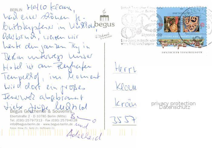 AK / Ansichtskarte Berlin Konzerthaus Brandenburger Tor Europacenter Gedaechtniskirche Reichstag Kammermusiksaal Philharmonie Dom Aquarell Berliner Dom Kat. Berlin 1