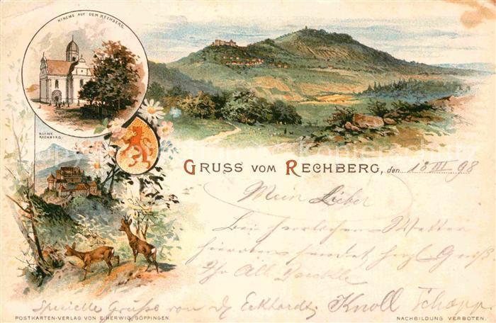 AK / Ansichtskarte Rechberg Schwaebisch Gmuend Kirche Ruine Rechberg  Kat. Schwaebisch Gmuend