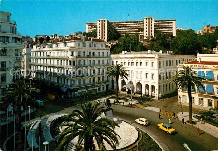 AK / Ansichtskarte Alger Algerien Place Emir Abdelkader