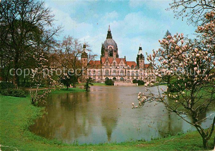 AK / Ansichtskarte Hannover Rathaus vom Maschpark aus gesehen Kat. Hannover