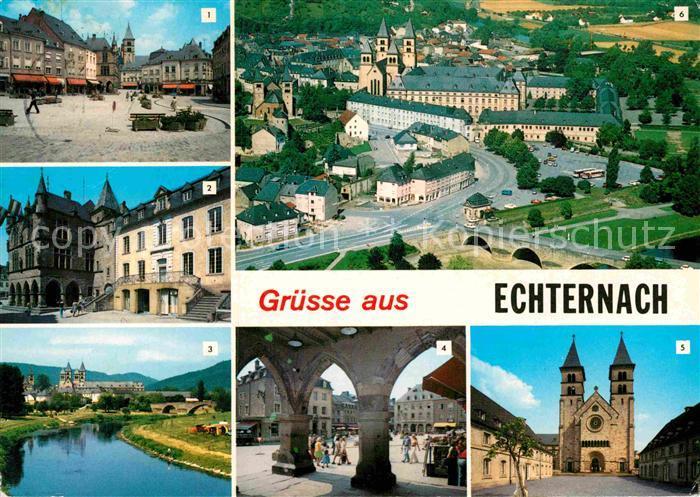 AK / Ansichtskarte Echternach Place du Marche Hotel de Ville Arcades  Kat. Luxemburg