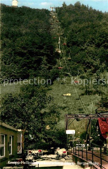 AK / Ansichtskarte Bad Lauterberg Burgseilbahn Kneipp Heilbad Kat. Bad Lauterberg im Harz