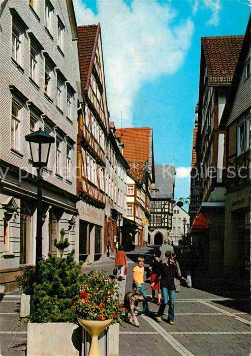AK / Ansichtskarte Alsfeld Mainzer Gasse Altstadt Fachwerkhaeuser Kat. Alsfeld