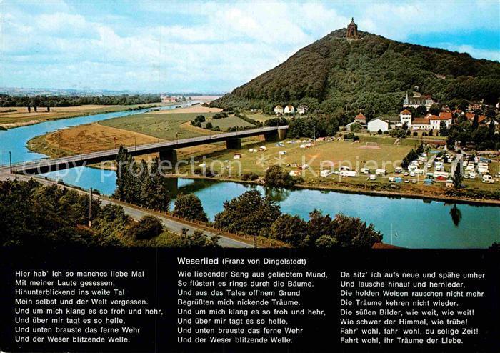 AK / Ansichtskarte Porta Westfalica mit Kaiser Wilhelm Denkmal Wittekindsberg Kat. Porta Westfalica