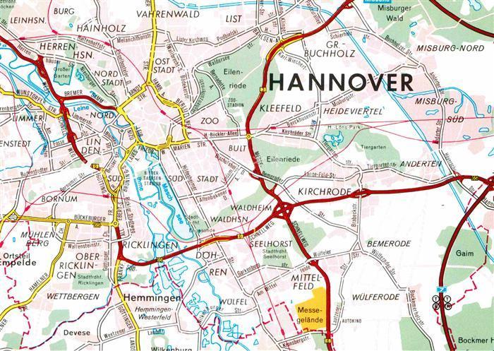 AK / Ansichtskarte Hannover Strassenkarte Kat. Hannover