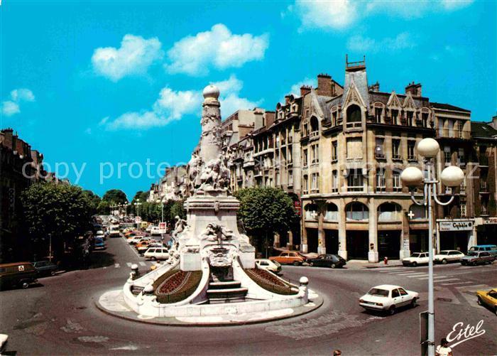 AK / Ansichtskarte Reims Champagne Ardenne Fontaine Sube Place Drouet d`Erlon Kat. Reims