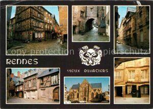 AK / Ansichtskarte Rennes Rue du Chapitre Porte Mordelaise Rue de la Psalette Saint Germain  Kat. Rennes