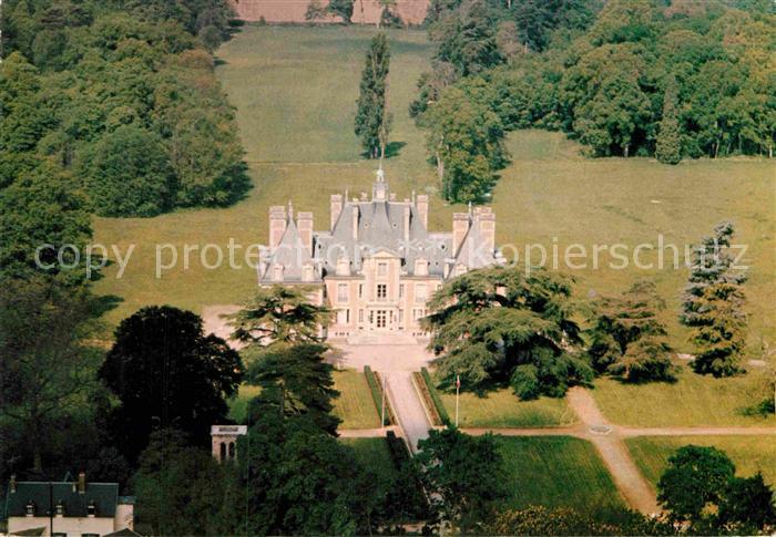 AK / Ansichtskarte Nainville les Roches Fliegeraufnahme Schloss Kat. Nainville les Roches