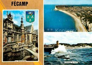 AK / Ansichtskarte Fecamp Fliegeraufnahme Port Stradn La Benedictine Kat. Fecamp