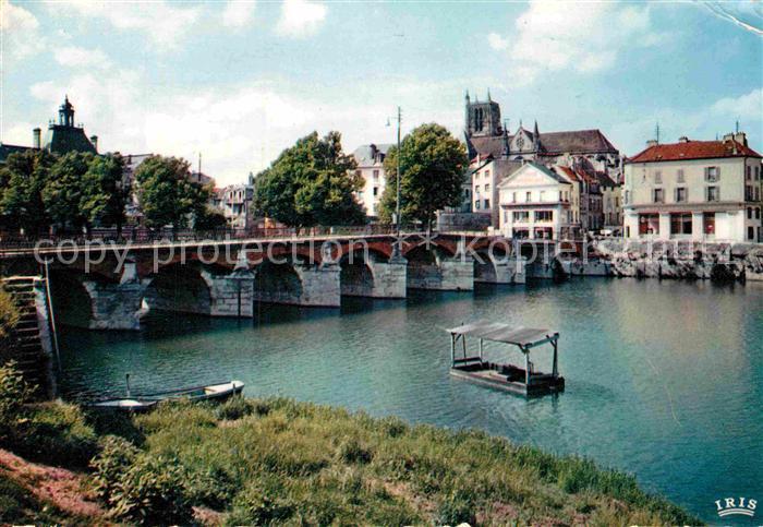 AK / Ansichtskarte Meaux Seine et Marne Le pont du Marche ou Vieux Pont sur la Marne Kat. Meaux