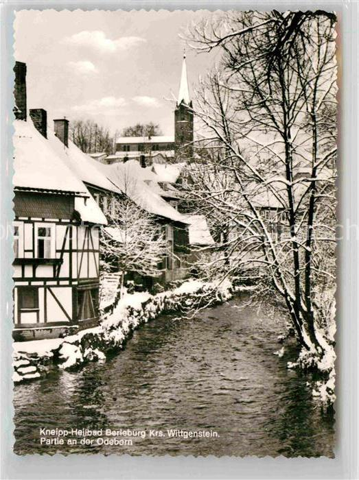AK / Ansichtskarte Berleburg Bad Partie an der Odeborn Winter Kat. Bad Berleburg