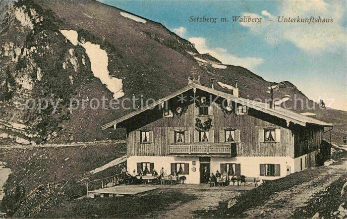 AK / Ansichtskarte Wallberg Setzberg Unterkunftshaus  Kat. Tegernsee