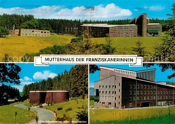 AK / Ansichtskarte Olpe Biggesee Mutterhaus der Franziskanerinnen Grabkapelle der Stifterin Kat. Olpe